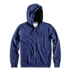crossed hoodie - navy