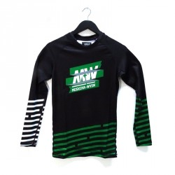 WVSN X Moskova training rashguard - Thin stripes