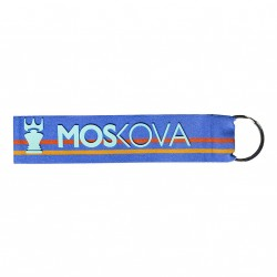 keyring - Heather Blue stripes