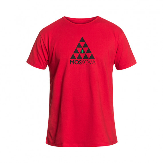 Tee Poly Triangles Red/Black