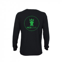 Tee LS Back Round - Black/Green