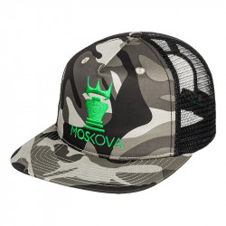 TRUCKER HAT CAMO CROWN Black/Green