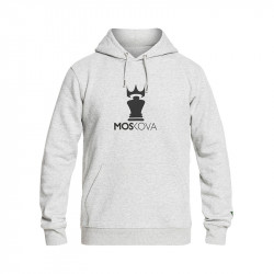 MOSKOVA FULL HOODIE HEATHER GREY / BLACK