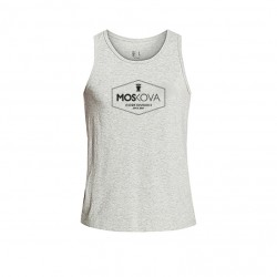 TANK TOP FRONT SQUARE Heather Grey Black