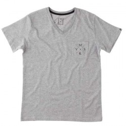 crossed v tee - grey