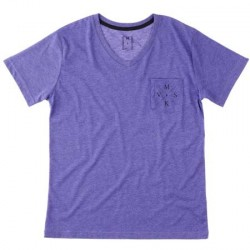 crossed v tee - purple