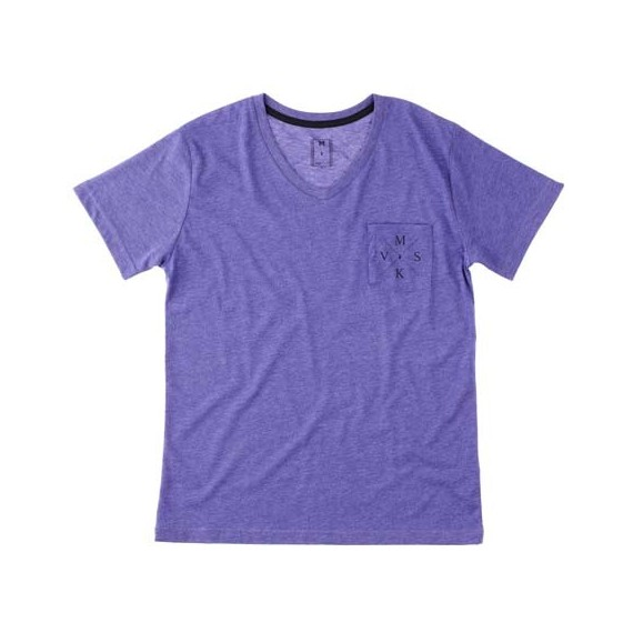 crossed v tee - purple