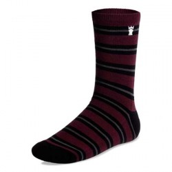casual socks - burgundy