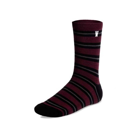 casual socks - burgundy