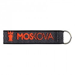 keyring - Dark Heather Grey/pink