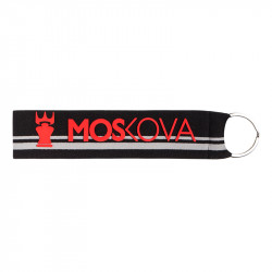 keyring - Heather Grey Stripe